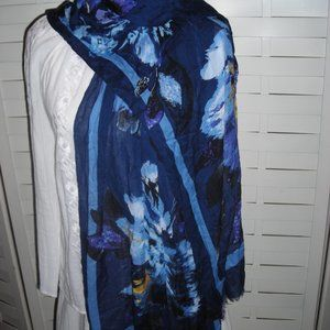 Talbots floral scarf in blues NEW!
